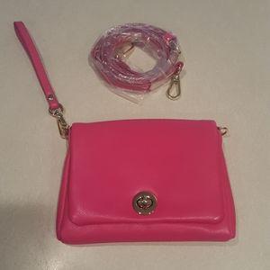 NWOT Charming Charlie Hot Pink Clutch/Shoulder Bag